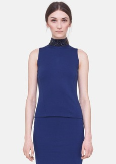 Akris punto Embellished Jersey Top