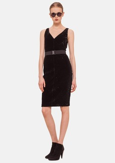 Akris punto Embellished Sleeveless V-Neck Dress