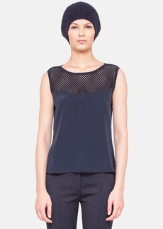 Akris punto Embroidered Yoke Silk Tank