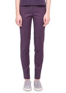 Akris punto Fabia Punto Jacquard Pants with Belt Loops