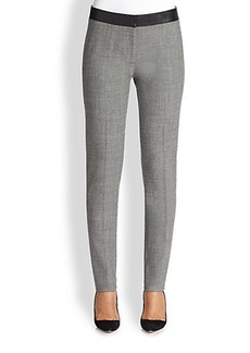 Akris Punto Fabiana Faux Leather-Waist Pants