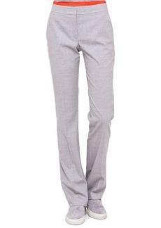Akris punto Faubourg Straight-Leg Pants, Gray