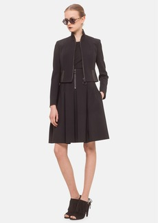Akris punto Faux Leather Trim Neoprene Jacket