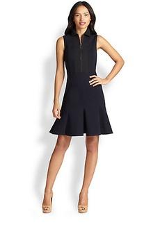 Akris Punto Flared Zip Jersey Dress