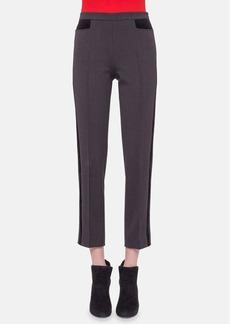 Akris punto 'Franca' Crop Wool Tuxedo Pants