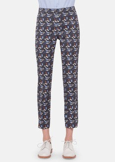 Akris punto 'Franca' Print Stretch Cotton Ankle Pants