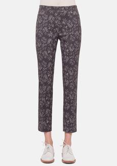 Akris punto 'Franca' Print Stretch Cotton Ankle Pants