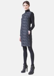 Akris punto Front Print Sweater Dress
