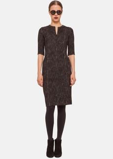 Akris punto Front Zip Half Sleeve Dress