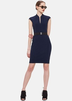 Akris punto Front Zip Sheath Dress