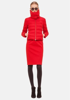 Akris punto Funnel Collar Quilted Down Jacket