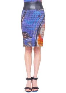 Akris punto Graffiti-Print Pencil Skirt