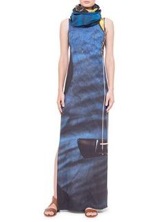 Akris punto Guitar-Print Ankle-Length Dress