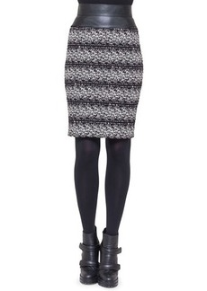 Akris punto Jersey Jacquard Tweed Skirt
