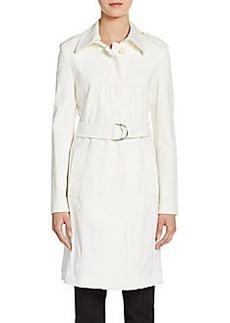 Akris Punto Jersey Sleeve Belted Trenchcoat