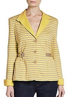 Akris Punto Jersey Stripe Jacket