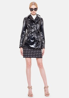 Akris punto Lacquered Trench Coat