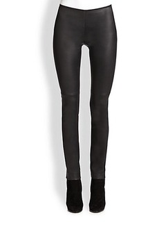 Akris Punto Leather & Jersey Leggings