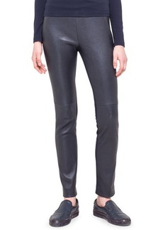Akris punto Leather and Jersey Fancy Leggings