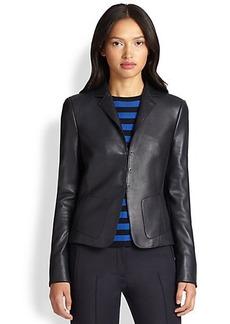Akris Punto Leather-Front Blazer