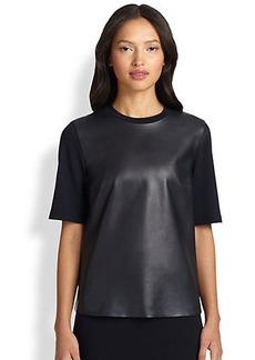 Akris Punto Leather-Front Shirt