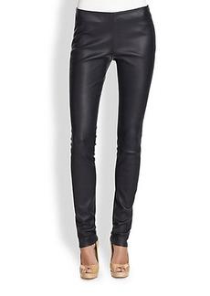 Akris Punto Leather Leggings
