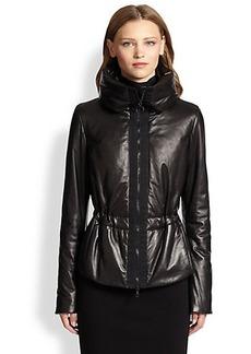 Akris Punto Leather Puffer Jacket