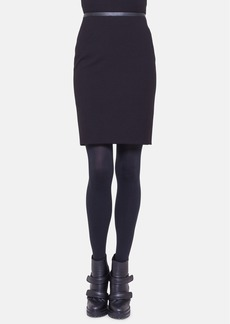 Akris punto Leather Trim Jersey Skirt