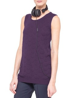 Akris punto Long Punto Jacquard Tank, Purple