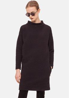 Akris punto Long Sleeve Jacquard Dress