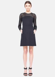 Akris punto Long Sleeve Techno Cotton Dress