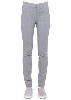 Akris punto Mara Flat-Front Jersey Pants, Silver
