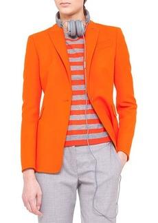 Akris punto One-Button Jacket, Tangerine