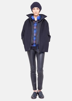 Akris punto Oversized 2-in-1 Wool Coat