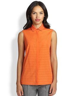 Akris Punto Perforated Cotton Shirt