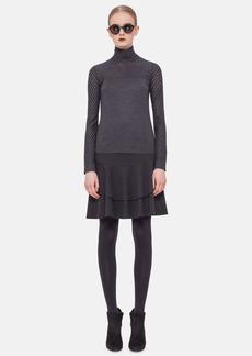 Akris punto Perforated Long Sleeve Wool Sweater