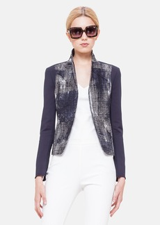Akris punto Pixel Print Cotton Techno Jacket