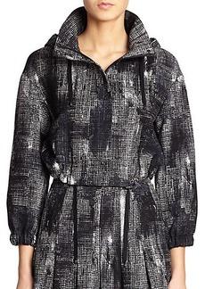 Akris Punto Pixel-Print Cropped Jacket