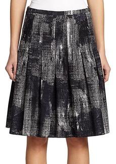 Akris Punto Pixel-Print Flared Skirt