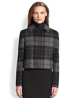 Akris Punto Plaid Wool Flannel Jacket