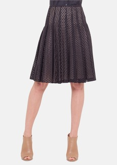 Akris punto Pleated Dot Lace Skirt