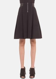 Akris punto Pleated Neoprene Skirt