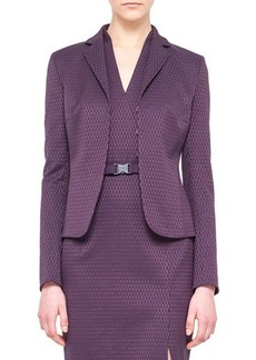 Akris punto Punto Jacquard Jacket, Purple