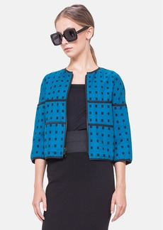 Akris punto Reversible Square Dot Jacquard Cotton Jacket
