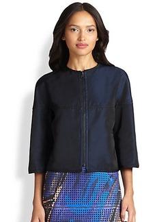 Akris Punto Reversible Techno Cropped Jacket