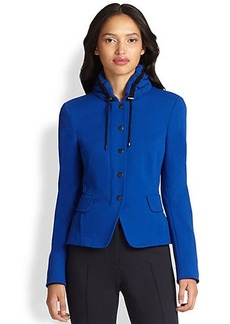 Akris Punto Ruched Collar Jacket