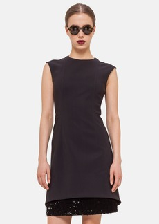 Akris punto Sequin Hem Techno Cap Sleeve Dress