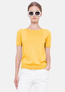 Akris punto Short Sleeve Cotton Sweater