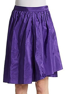 Akris Punto Silk A-Line Crossover Hem Skirt
