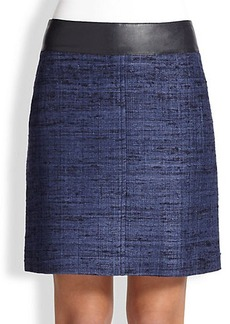 Akris Punto Silk Contrast-Waist Pencil Skirt